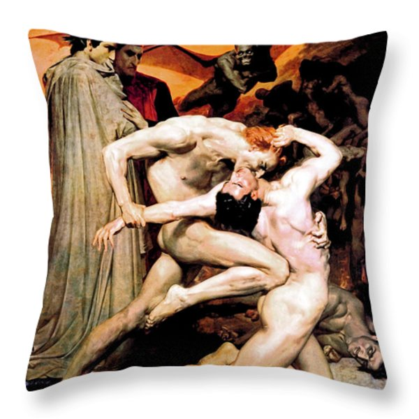 Dante and Virgil in Hell Throw Pillow by The  Vault - Jennifer Rondinelli Reilly