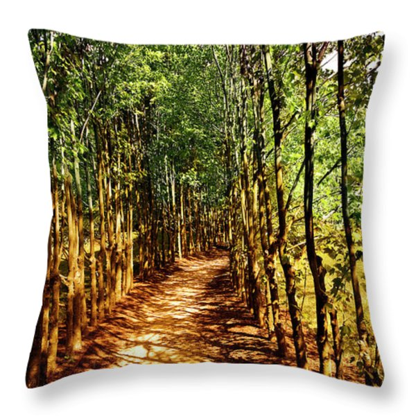 Dappled Days Throw Pillow by Madeline Ellis