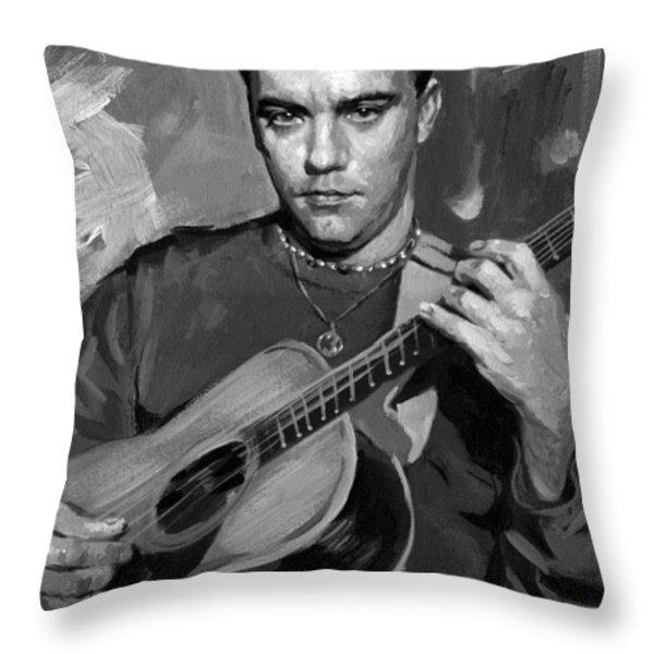 Dave Matthews Throw Pillow by Ylli Haruni