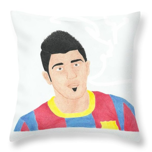 David Villa Throw Pillow by Toni Jaso