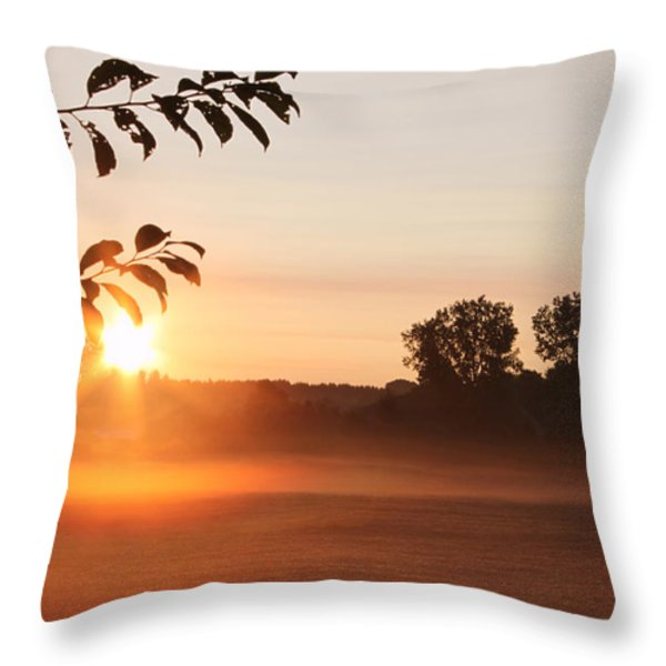 Dawn of a Brand New Day  Throw Pillow by Cathy  Beharriell