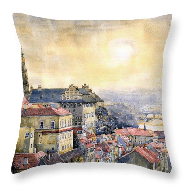 Dawn of Prague Throw Pillow by Yuriy  Shevchuk