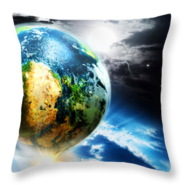 Day 4 Throw Pillow by Lourry Legarde