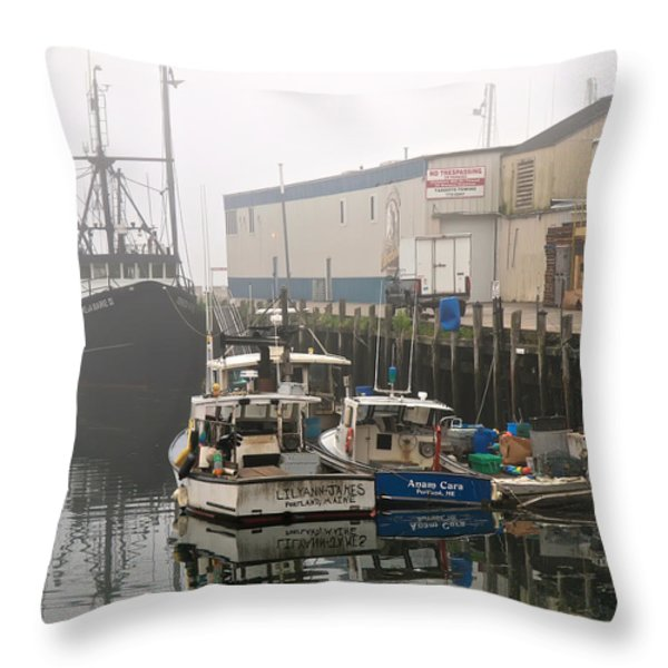 Day Off Throw Pillow by Bob Orsillo