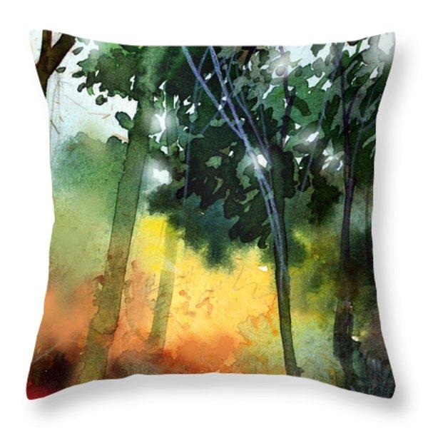 Daybreak Throw Pillow by Anil Nene