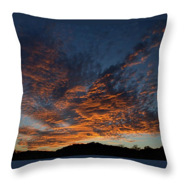 Day's Glorious Ending Throw Pillow by Karen Musick