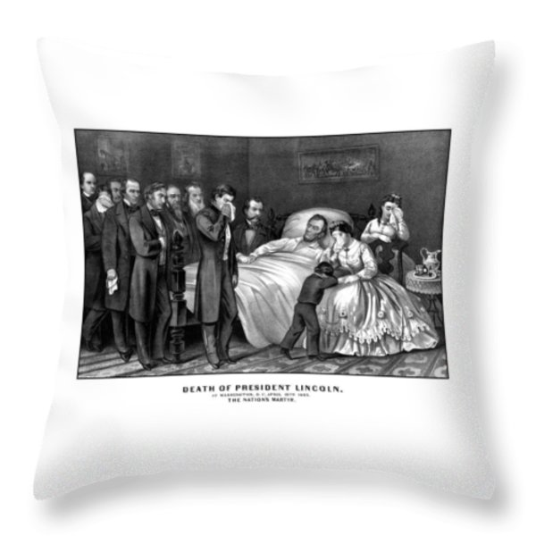 Death Of President Lincoln Throw Pillow by War Is Hell Store