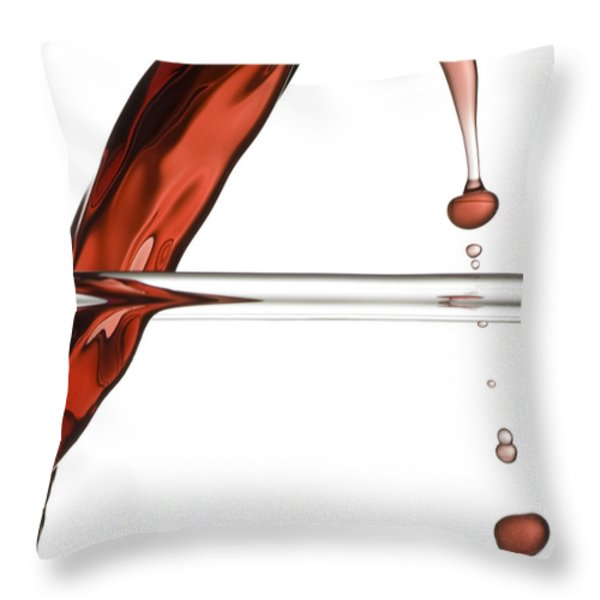 Decanting Wine Throw Pillow by Frank Tschakert
