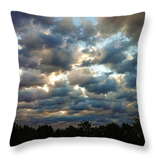 Deceptive Clouds Throw Pillow by Cricket Hackmann