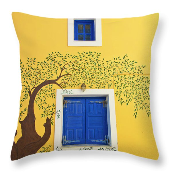 decorated house Throw Pillow by Meirion Matthias