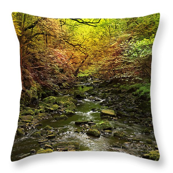 Deep In The Woods Throw Pillow by Svetlana Sewell