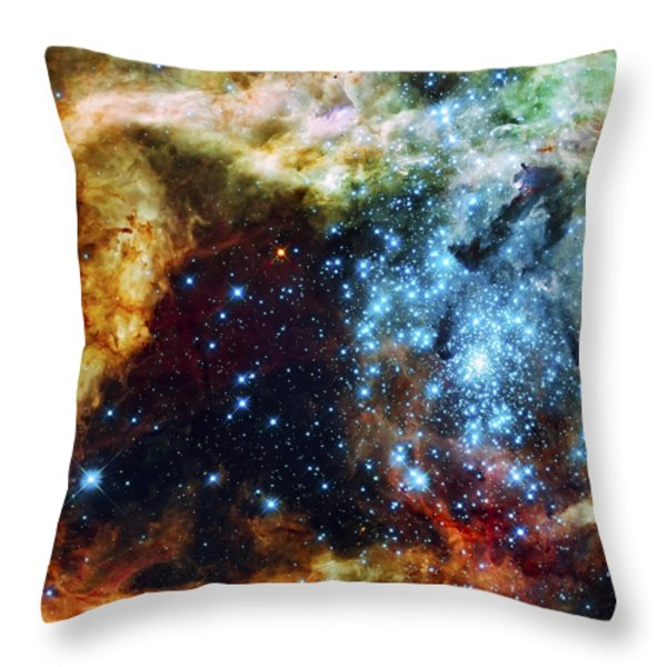 Deep Space Fire and Ice 2 Throw Pillow by The  Vault - Jennifer Rondinelli Reilly