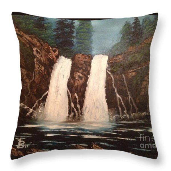 Deep Woods Waterfall Throw Pillow by Tim Blankenship