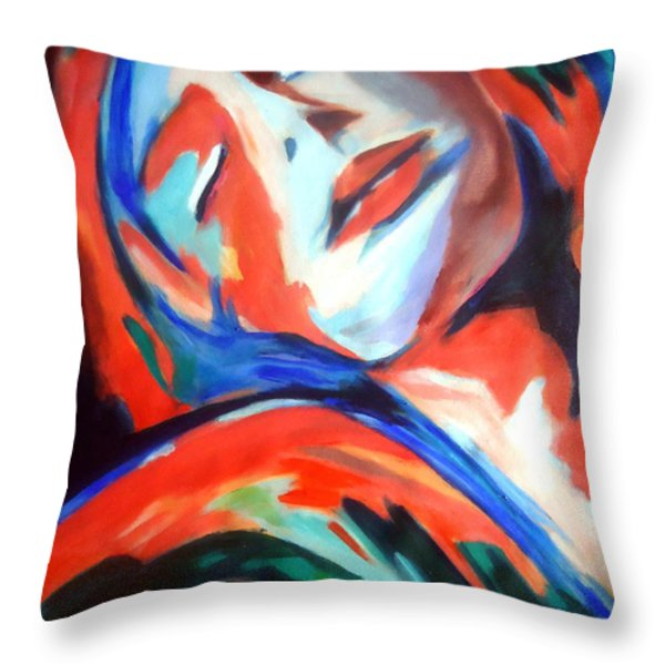 Deepest Fullness Throw Pillow by Helena Wierzbicki