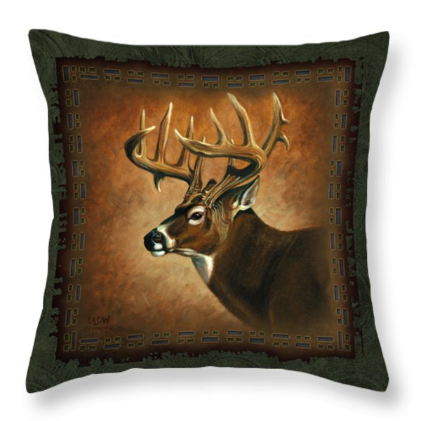 Deer Lodge Throw Pillow by JQ Licensing