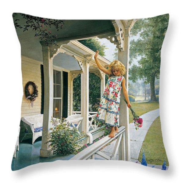 Delicate Balance Throw Pillow by Greg Olsen