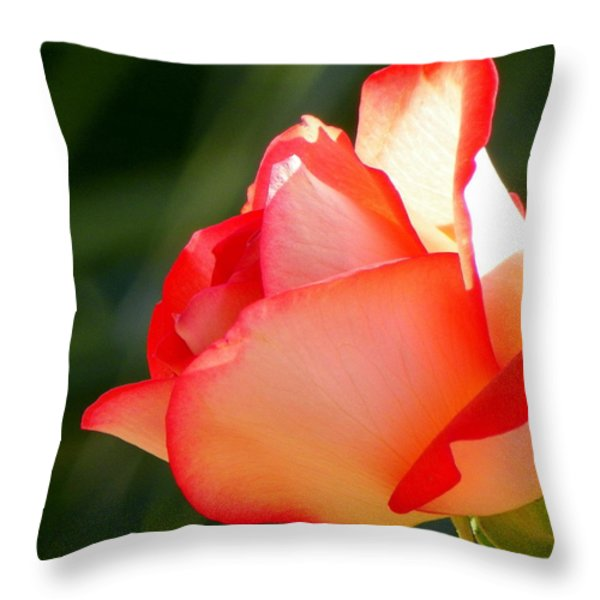 Delicate Beauty Throw Pillow by KAREN WILES