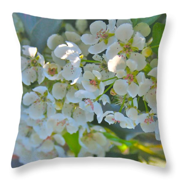 Delightfully White Throw Pillow by Gwyn Newcombe