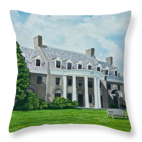 Delta Upsilon Throw Pillow by Charlotte Blanchard
