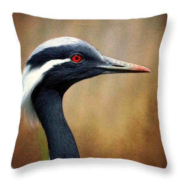 Demoiselle Crane Throw Pillow by Al  Mueller
