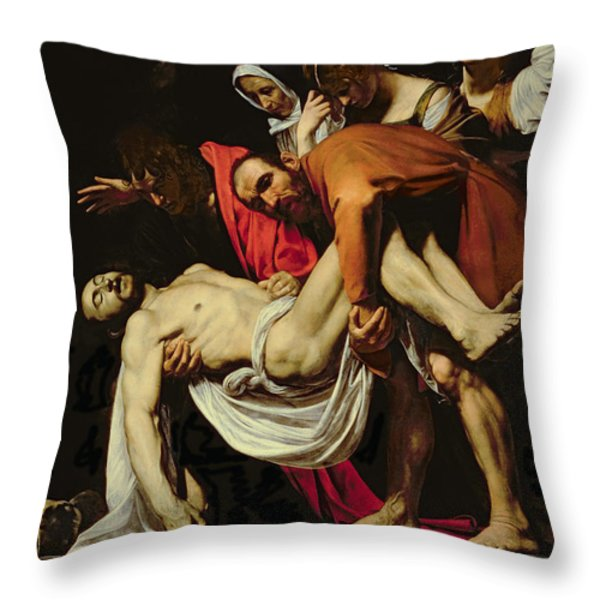 Deposition Throw Pillow by Michelangelo Merisi da Caravaggio