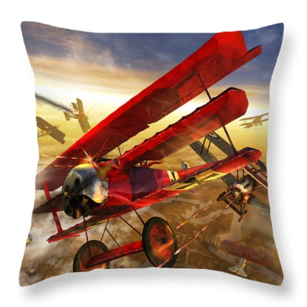 Der Rote Baron Throw Pillow by Kurt Miller