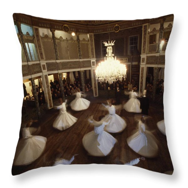 Dervishes Perform A Ritual Dance Throw Pillow by James L. Stanfield