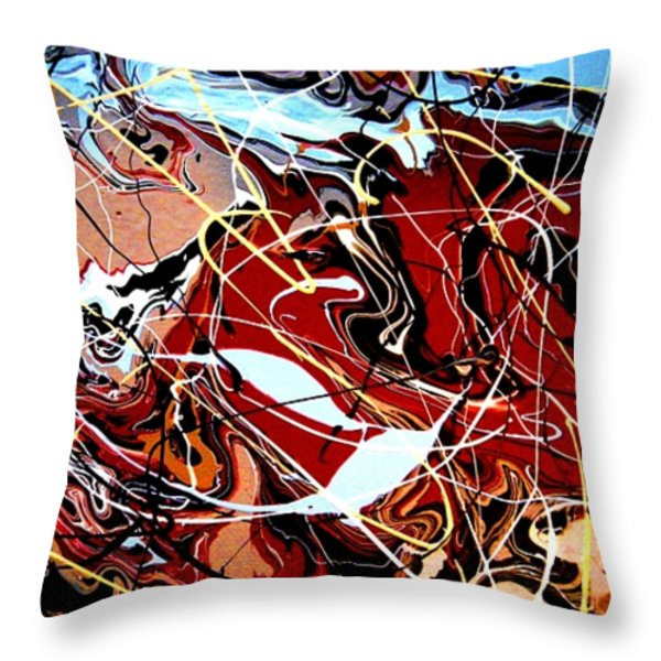 Desert Canyon Part II Throw Pillow by Eric Moore