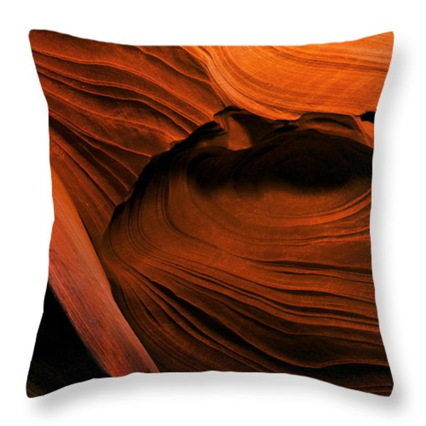 Desert Carvings Throw Pillow by Mike  Dawson