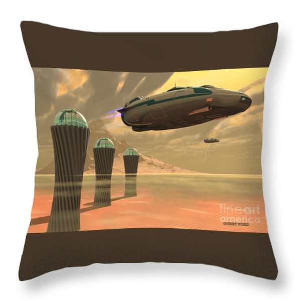Desert Planet Throw Pillow by Corey Ford