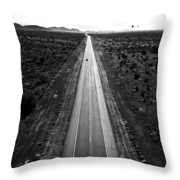 Desert Road Throw Pillow by Scott Pellegrin