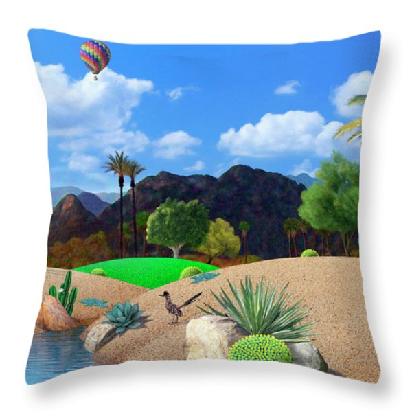 Desert Splendor Throw Pillow by Snake Jagger