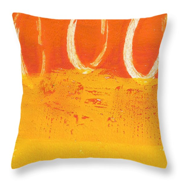 Desert Sun Throw Pillow by Linda Woods