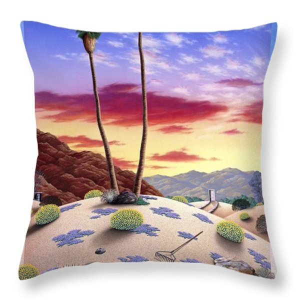 Desert Sunrise Throw Pillow by Snake Jagger