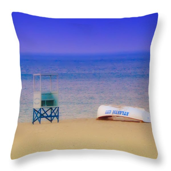 Deserted Beach Throw Pillow by Bill Cannon