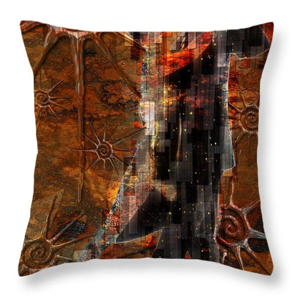 Destiny Tangos Con Chance En El Salon De Eternidad Throw Pillow by Kenneth Armand Johnson