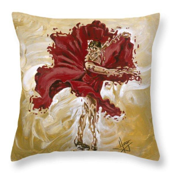 Determination Throw Pillow by Karina Llergo Salto