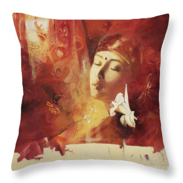 Devoted Throw Pillow by Lin Petershagen