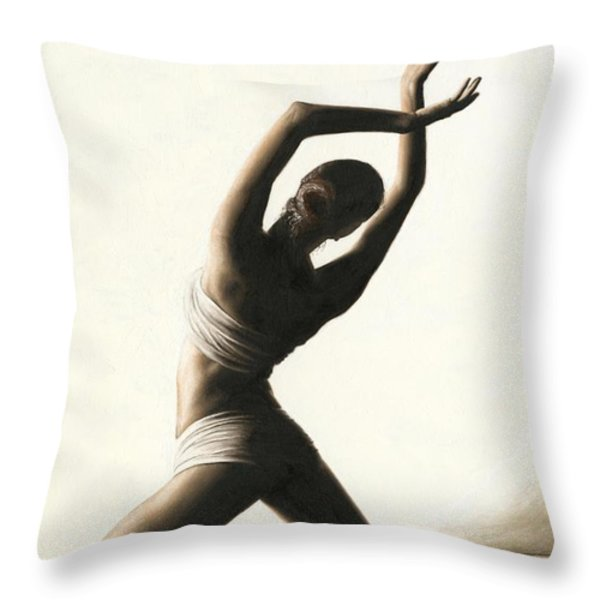 Devotion to Dance Throw Pillow by Richard Young