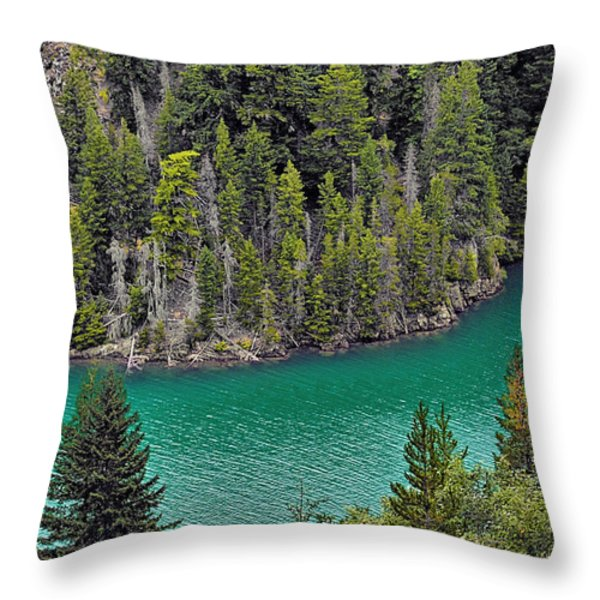 Diabolo Lake North Cascades NP WA Throw Pillow by Christine Till