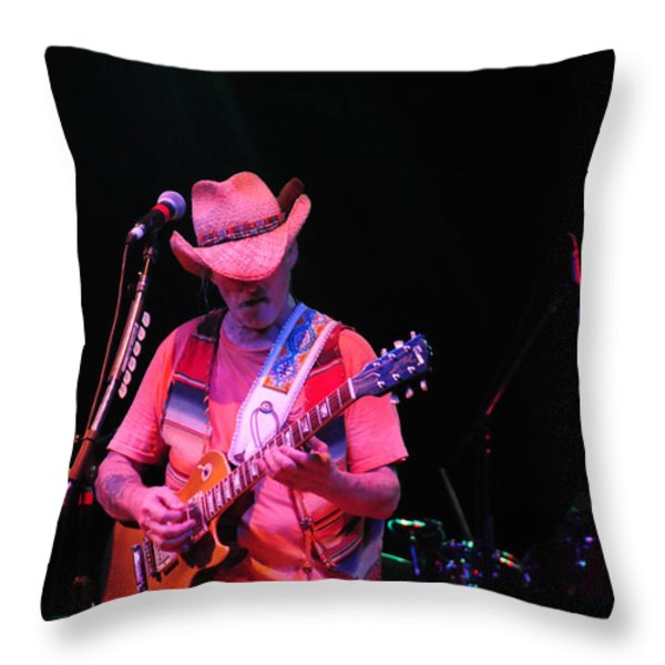 Dickie Betts Throw Pillow by Mike Martin
