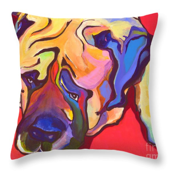Diesel   Throw Pillow by Pat Saunders-White