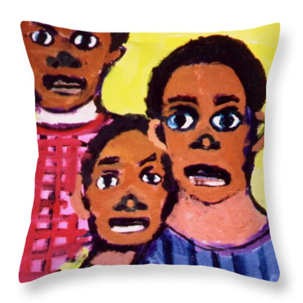 Different Drums Throw Pillow by Angela L Walker