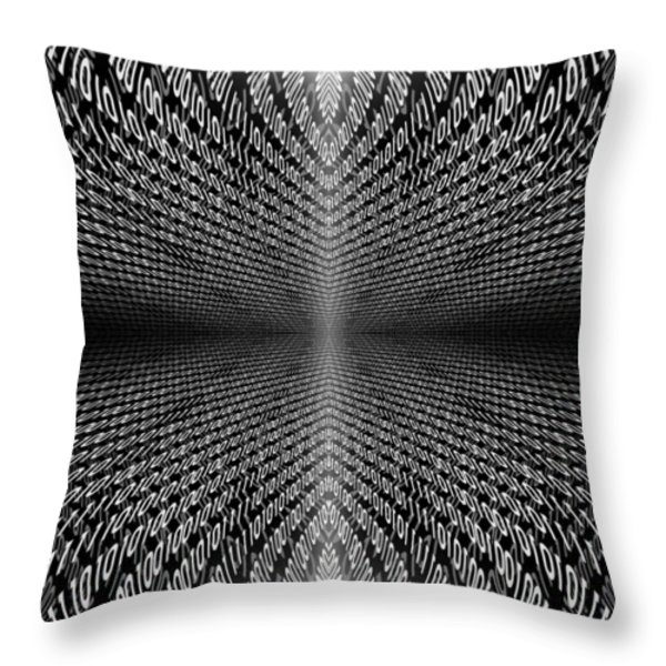 Digital Divide Vortex Throw Pillow by Gordon Dean II