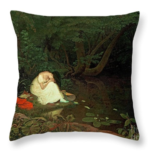 Disappointed Love Throw Pillow by Francis Danby