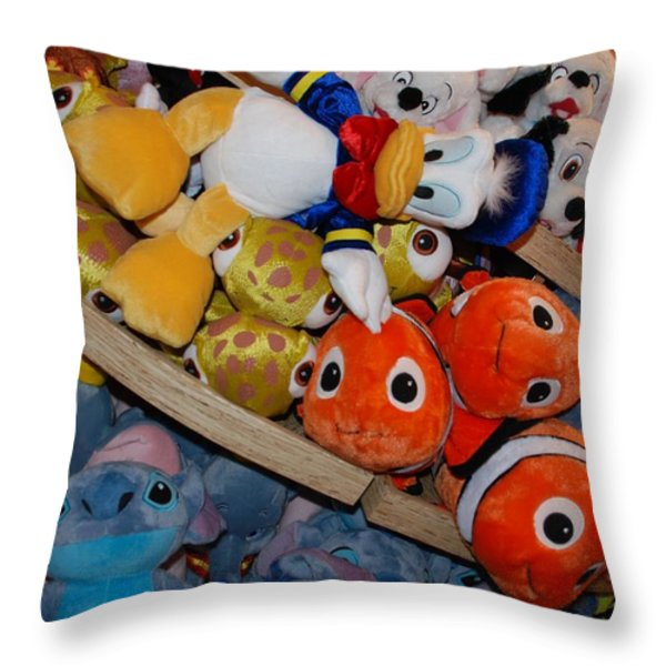 Disney Animals Throw Pillow by Rob Hans