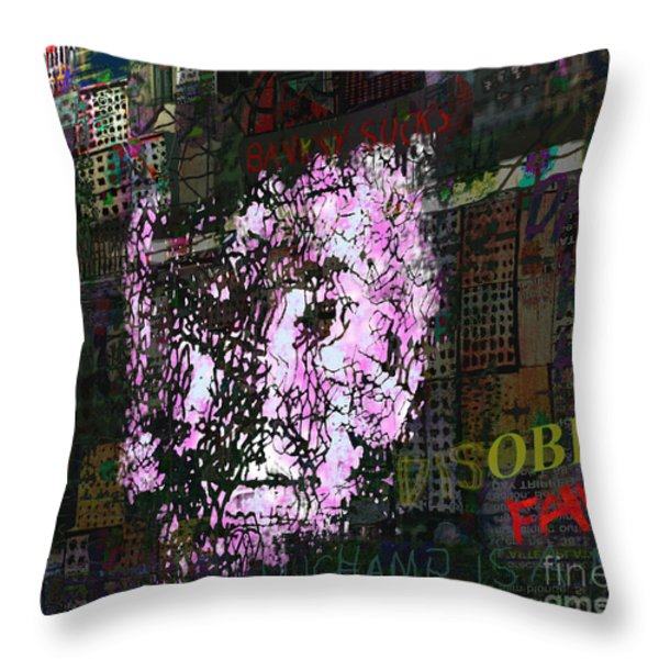 Disobey Throw Pillow by Andy  Mercer