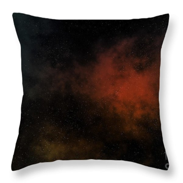 Distant Nebula Throw Pillow by Michal Boubin