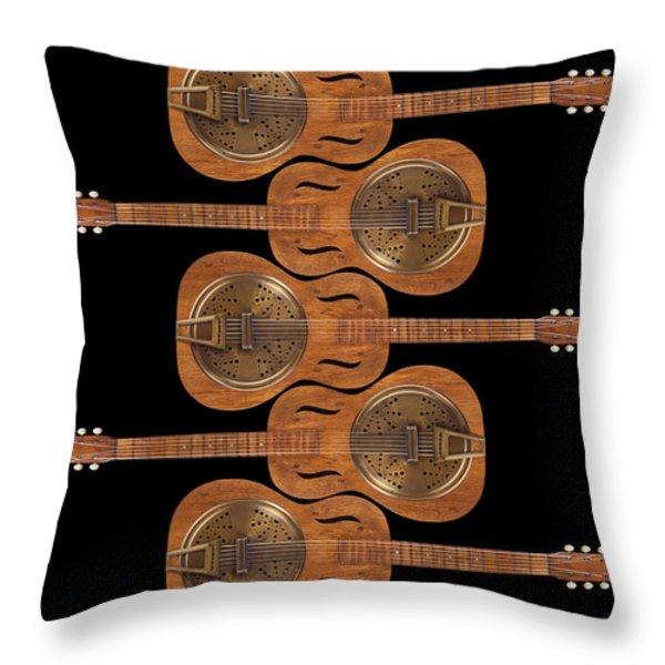 Dobro 3 Throw Pillow by Mike McGlothlen