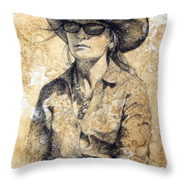 Doc Throw Pillow by Debra Jones